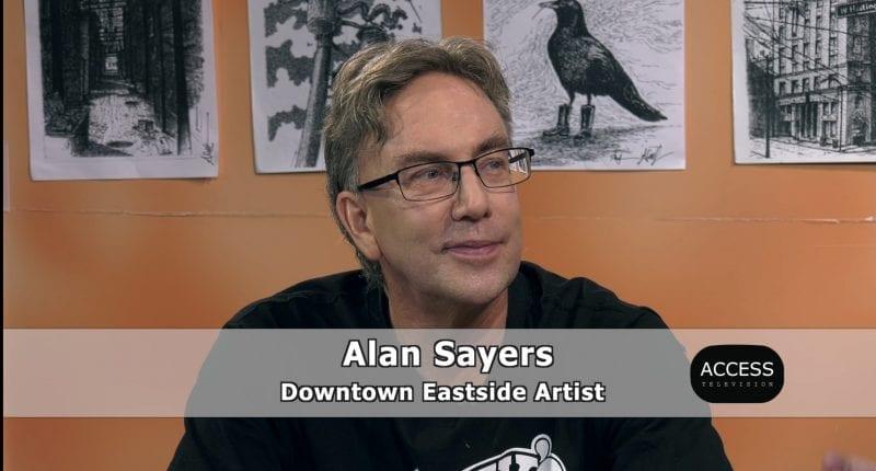 Artist Alan Sayers has died.